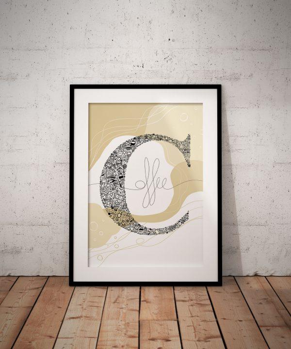 nautraltoneswallart-abstractwalldesign-beigeposter-beigeillustration-lettercposter-wallartdesign